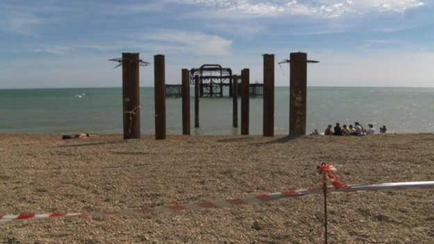 Remains of Brighton pier