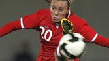 Natasha Harding in action for Wales