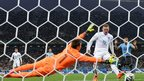 Wayne Rooney scores England's equaliser against Uruguay at the 2014 World Cup