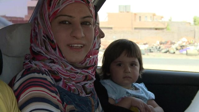 Mosul woman and child