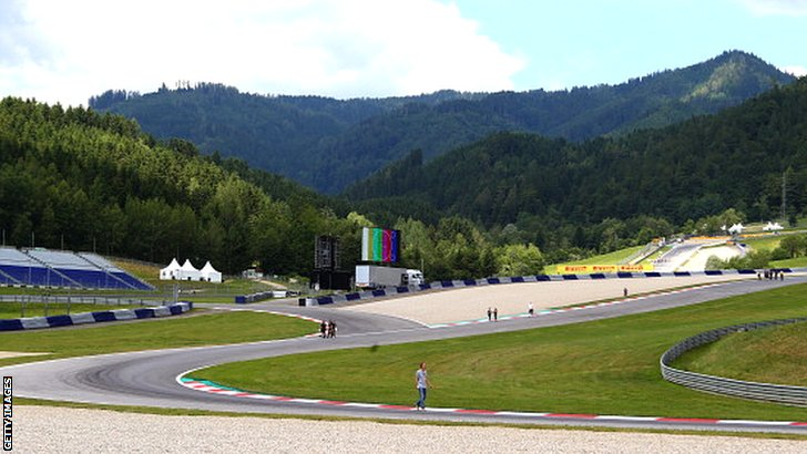 The Spielberg track at the Austrian Grand Prix
