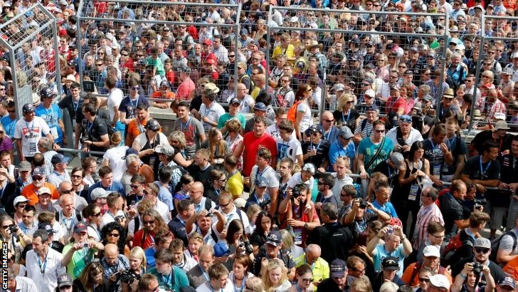 Austrian GP crowd