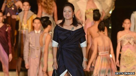 Li Na on the catwalk