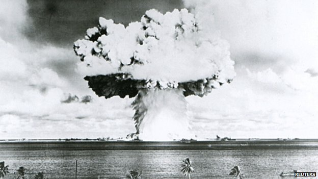 A nuclear test in the South Pacific