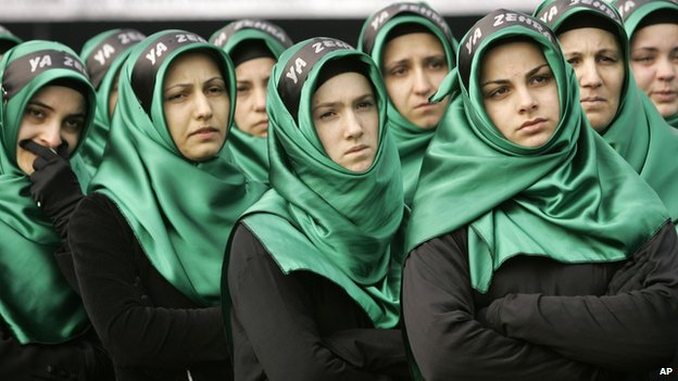 Shia women at Ashura celebration in Istanbul
