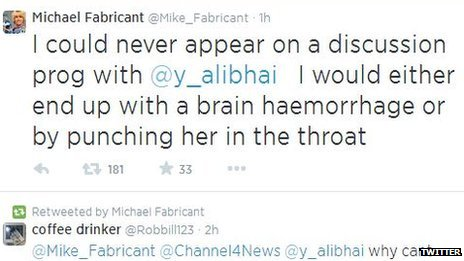 Michael Fabricant posted the remark on Twitter