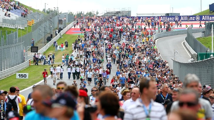 Crowd scenes at the Austrian Grand Prix