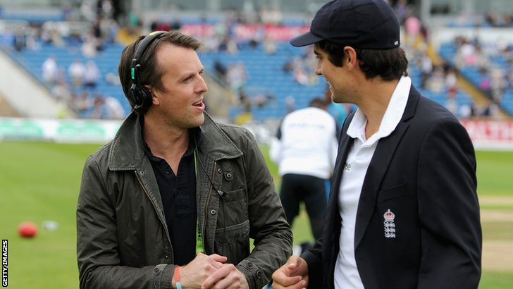 Former England spinner Graeme Swann and England captain Alastair Cook