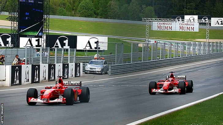 Michael Schumacher and Rubens Barrichello 2002