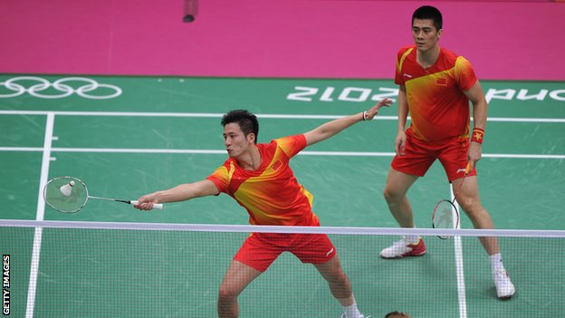 China men's doubles pair