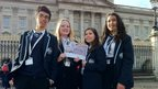 Hove Park School Reporters outside Buckingham Palace