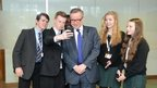 School Reporters and Gove taking selfies