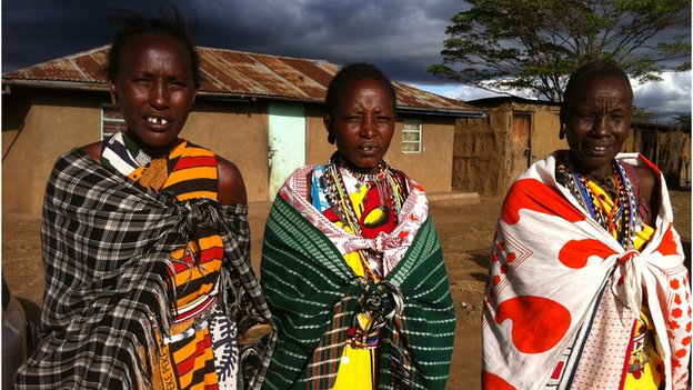 Isaya Ntokot's three wives, Mary, Joyce, and Alice