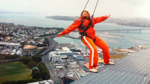 Barbara Watson on the Sky Tower