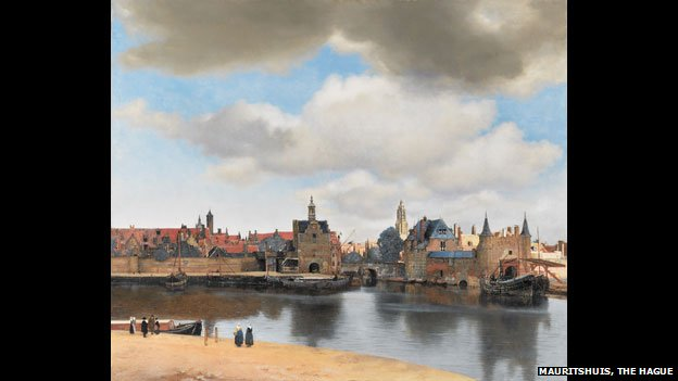 Johannes Vermeer, View of Delft, c. 1660 - 1661