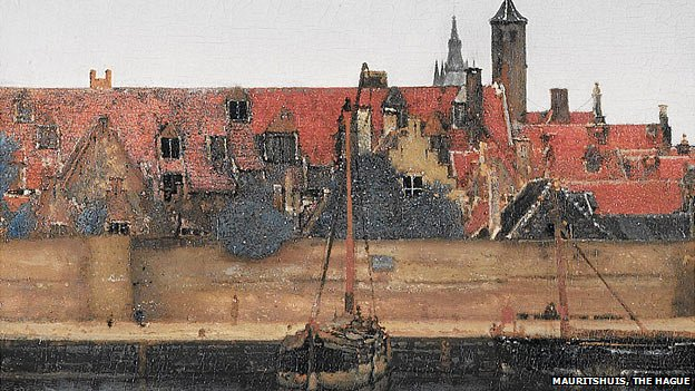 Close up of Vermeer's View of Delft