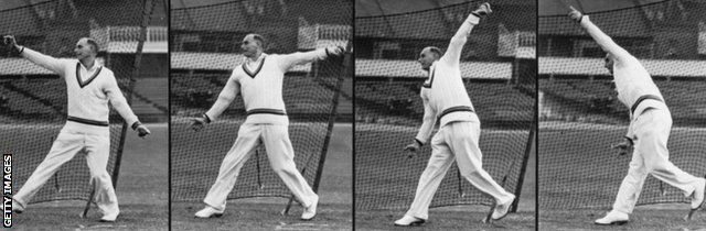 Hedley Verity's bowling technique