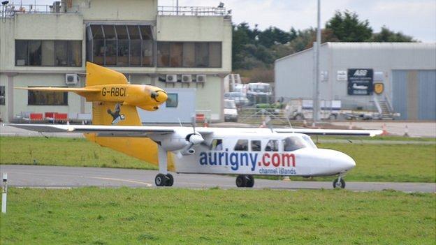 Trislander at Guernsey Airport