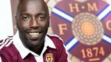 Hearts' new signing Morgaro Gomis at Tynecastle