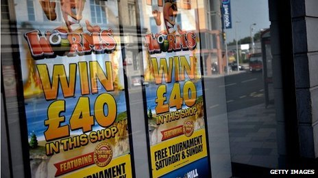 A betting shop window
