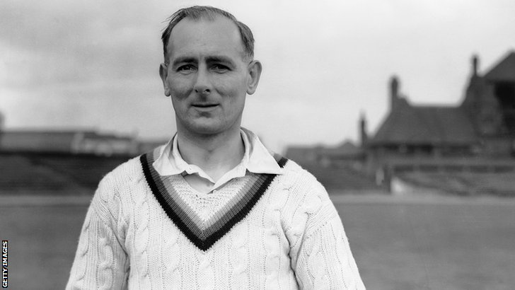 Former Yorkshire and England bowler Hedley Verity