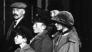 German immigrants arriving in New York, 1905