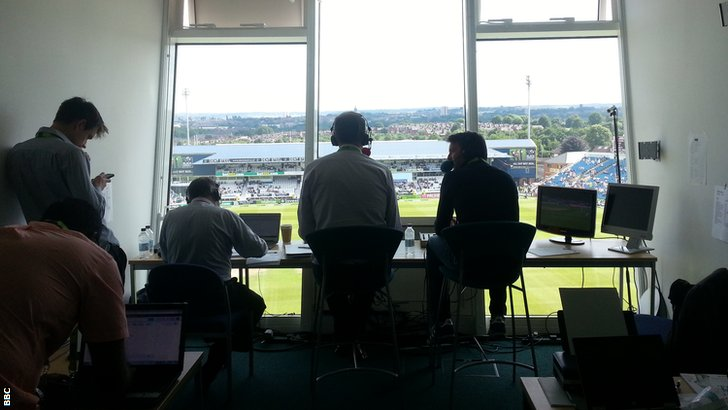 Test Match Special commentary box