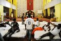 Migrants from Africa are temporarily sheltered in the Catholic church of St Curato D'Ars in Palermo, Sicily, Italy