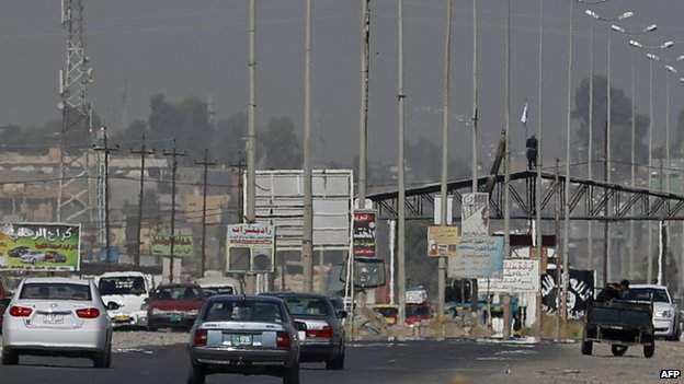 Isis checkpoint in Mosul