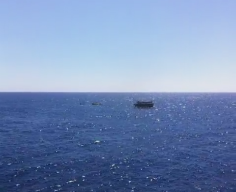 Migrant boat in the Mediterranean - 20 June 2014
