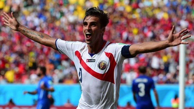 World Cup 2014: Bryan Ruiz shocks Italy with opening goal