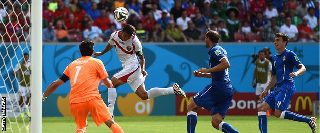 Costa Rica have reached the knockout stages of the World Cup for the second time in their history after 1990