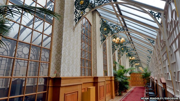 The Glass Corridor inside Birmingham Council House