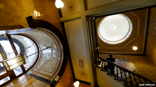 Reception and staircase in the Birmingham Assay Office