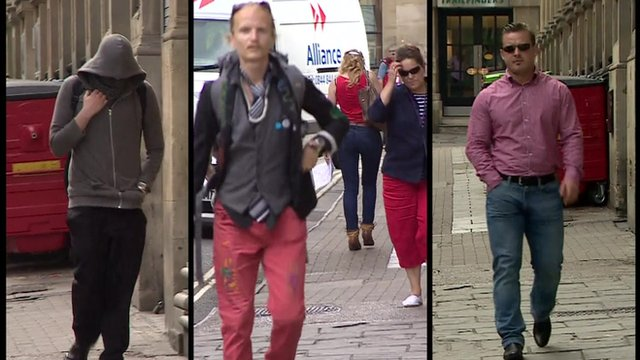 Daniel Baynes (left), Janusz Salnikow (middle) and Tomasz Gidaszewski (right) were sentenced at Bristol Crown Court
