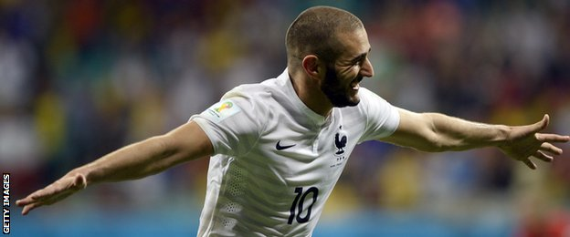 France forward Karim Benzema