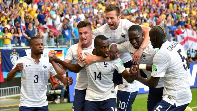 World Cup 2014: Giroud & Matuidi both score in 66 seconds for France