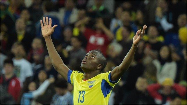 World Cup 2014: Enner Valencia completes Ecuador comeback v Honduras