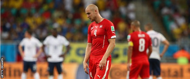 Switzerland defender Philippe Senderos