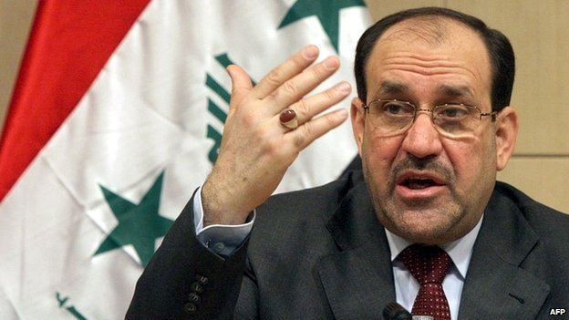Iraqi Prime Minister Nouri Maliki at a press briefing in Baghdad - 4 March 2007