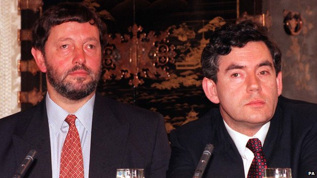 David Blunkett with Gordon Brown