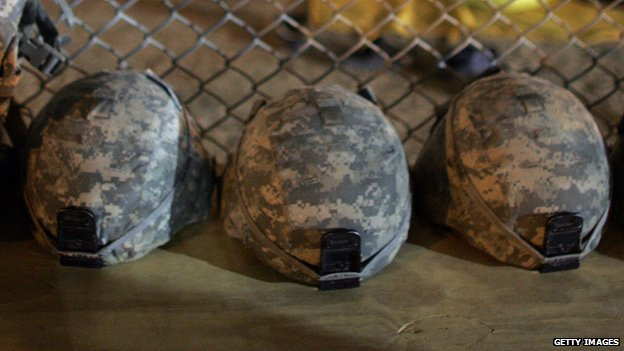 US military Kevlar helmets