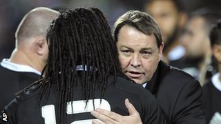 Steve Hansen and Ma'a Nonu