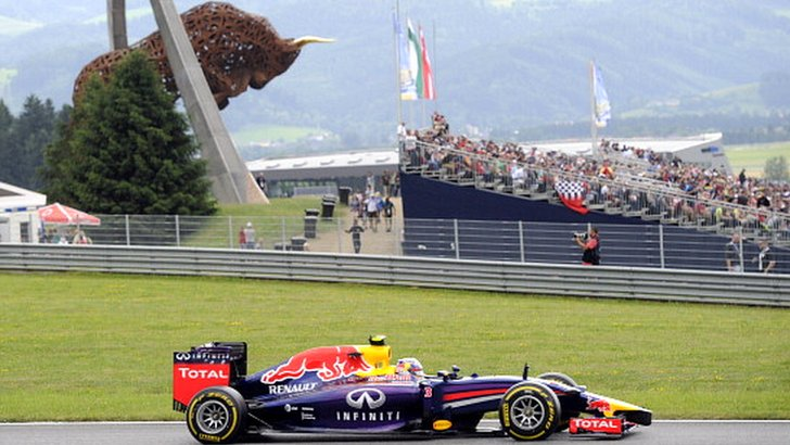 Daniel Ricciardo at the Red Bull Ring