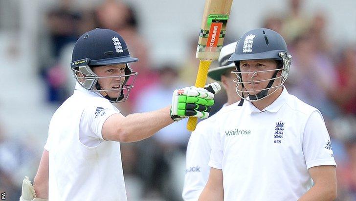 England's Sam Robson and Gary Ballance