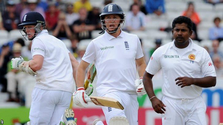 England batsmen Sam Robson and Gary Ballance