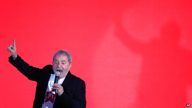 Former President Lula at the party conference