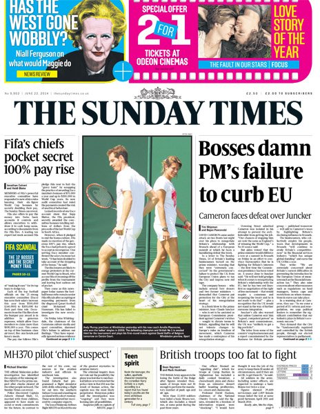 Sunday Times front