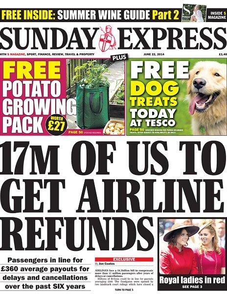 Sunday Express front