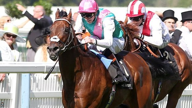 Kingman won the St James's Palace Stakes on the opening day of the Royal meeting